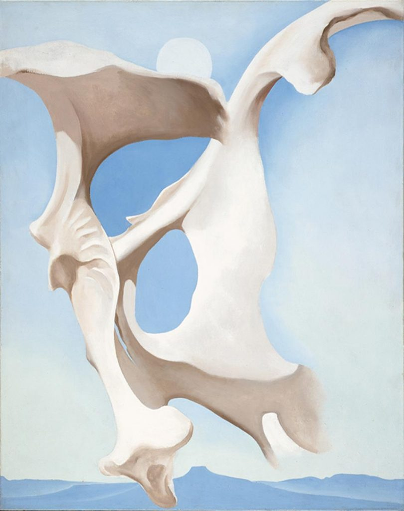 Pelvis with the Moon © 2016 Georgia O'Keeffe Museum/ DACS, London.