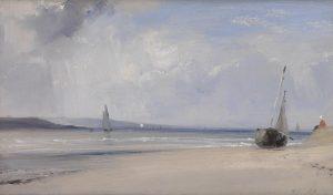 Imagem: Richard Parkes Bonington, 'Um estuário no norte da França', por volta de 1825-7