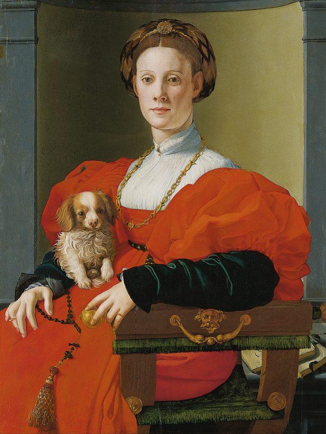 Madames e seus cães em obras de arte