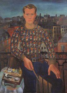 Self portait *oil on canvas *129.5 x 96 cm *1927 *signed b.l.